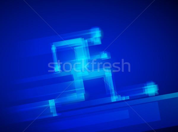 Piłka nożna piłkarz działania eps10 zorganizowany warstwy Zdjęcia stock © polygraphus