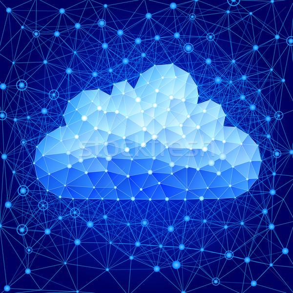 Stock fotó: Felhő · alapú · technológia · eps8 · szervezett · rétegek · gradiensek · használt