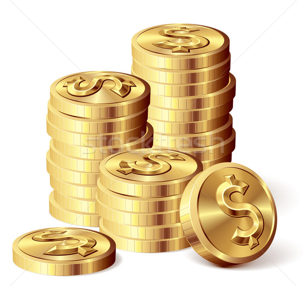 Gold coins Stock photo © polygraphus