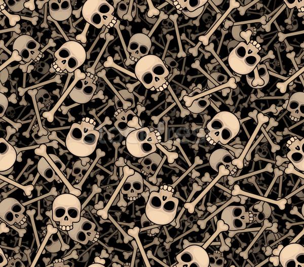 Kafatasları kemikleri karanlık eps8 Stok fotoğraf © polygraphus