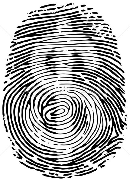 Kciuk wydruku wektora znak dolara eps8 działalności Zdjęcia stock © polygraphus