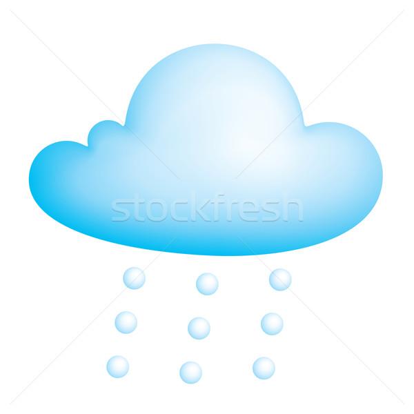 Vektör bulut mavi eps8 global renk Stok fotoğraf © polygraphus
