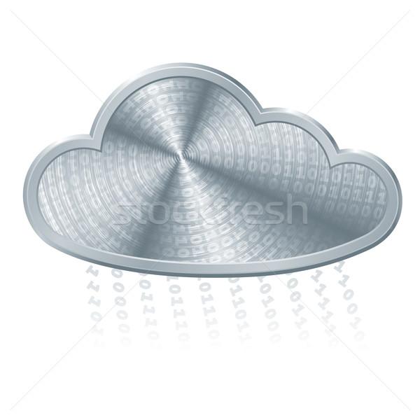 Madeni bulut ikili kod eps8 düzenlenmiş Stok fotoğraf © polygraphus