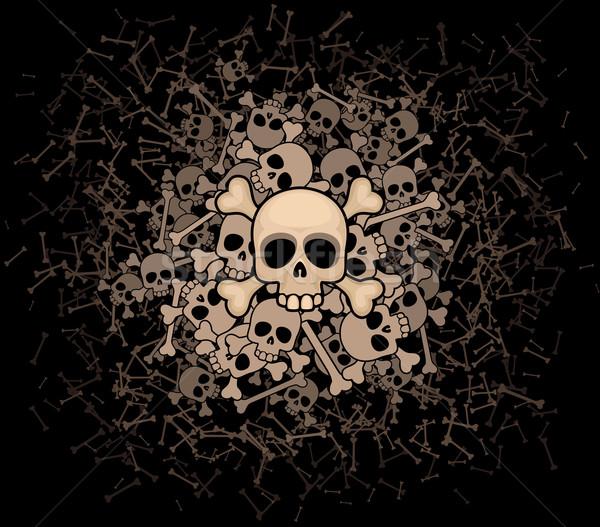 Heap of skulls and bones Stock photo © polygraphus