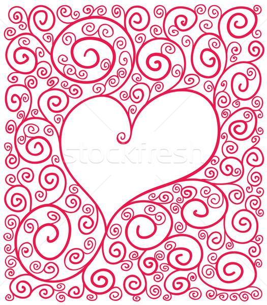 Kalp çerçeve eps8 geçişlerini ücretsiz Stok fotoğraf © polygraphus