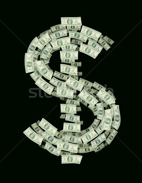 Dolar znak dolara eps8 zorganizowany warstwy Zdjęcia stock © polygraphus