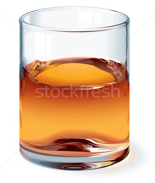 Viski cam yalıtılmış beyaz bir global Stok fotoğraf © polygraphus