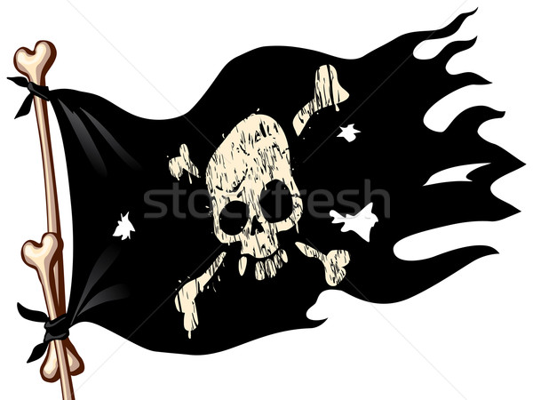 Pirate flag Stock photo © polygraphus