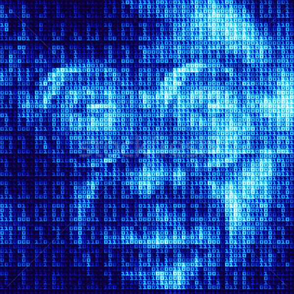 Hacker ekran ikili kod eps8 global renkler Stok fotoğraf © polygraphus