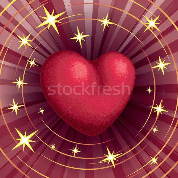 Kalp şekli kırmızı kalp renk eps8 düzenlenmiş Stok fotoğraf © polygraphus
