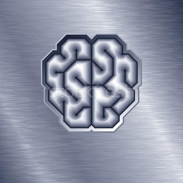 Vektör beyin biçim Metal eps8 düzenlenmiş Stok fotoğraf © polygraphus