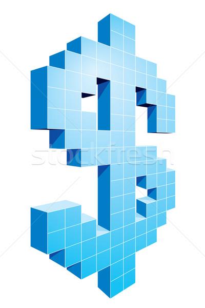 Dolar 3D znak dolara eps8 zorganizowany Zdjęcia stock © polygraphus