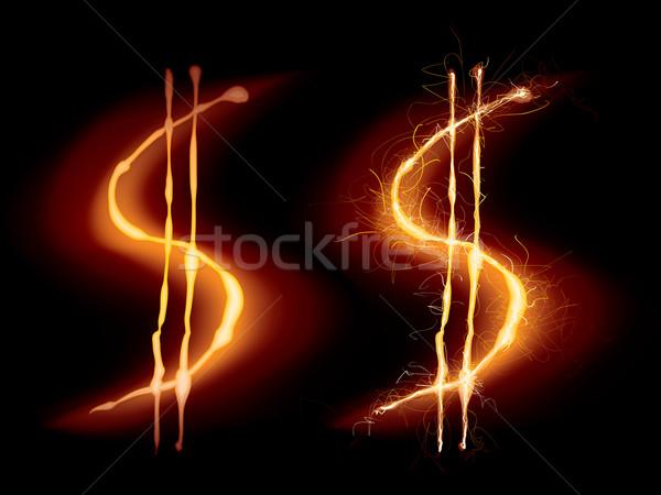 Hot znak dolara dwa czarny eps8 Zdjęcia stock © polygraphus