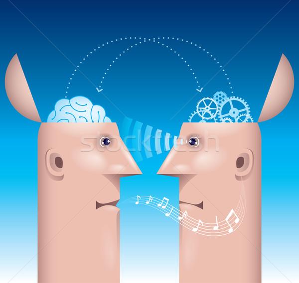 Inny umysł dwa mężczyzna profil eps8 Zdjęcia stock © polygraphus
