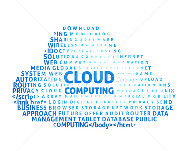 言葉の雲 eps8 グローバル 色 勾配 ストックフォト © polygraphus