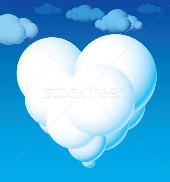 Chmura serca świetle formularza eps8 globalny Zdjęcia stock © polygraphus