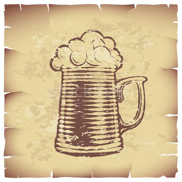 Piwa szkła starego papieru eps8 globalny Zdjęcia stock © polygraphus