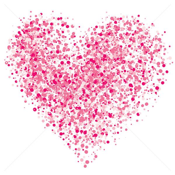 Serca spray różowy eps8 globalny kolory Zdjęcia stock © polygraphus