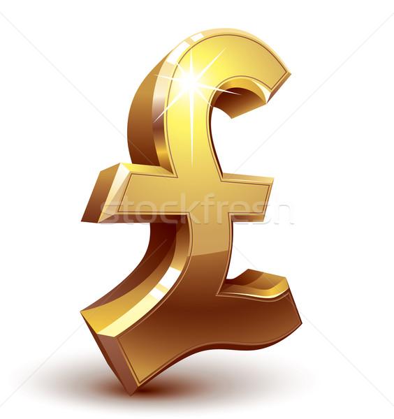 Pound symbol Stock photo © polygraphus
