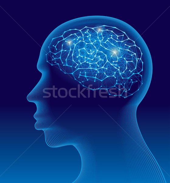 Beyin insan kafa içinde eps8 düzenlenmiş Stok fotoğraf © polygraphus