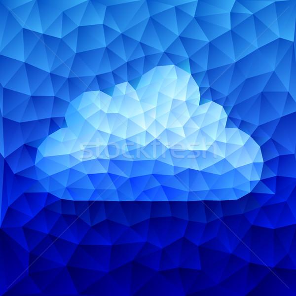 Wektora Chmura niebieski eps8 zorganizowany warstwy Zdjęcia stock © polygraphus