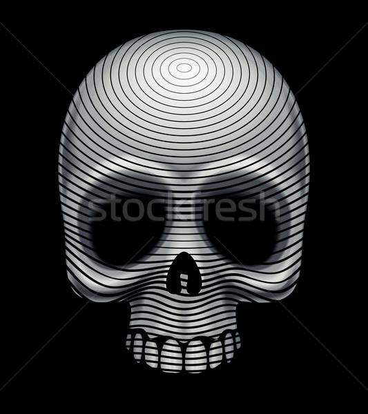 Cráneo imitación eps8 organizado capas Foto stock © polygraphus