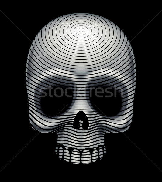 Kafatası oyma taklit eps8 düzenlenmiş Stok fotoğraf © polygraphus