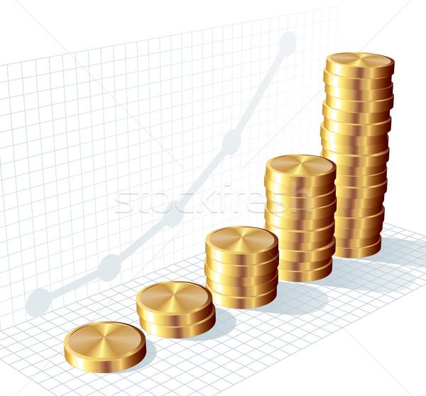 Coin graph Stock photo © polygraphus