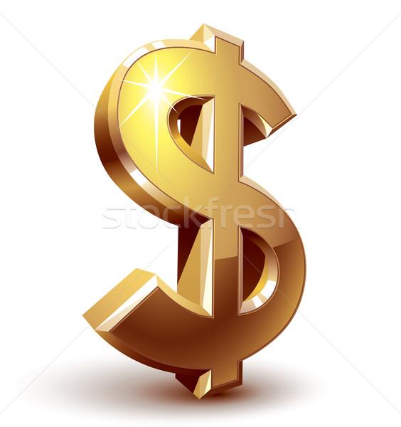 Znak dolara błyszczący złoty eps8 zorganizowany warstwy Zdjęcia stock © polygraphus