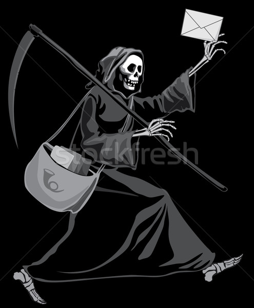 Grim Reaper postman Stock photo © polygraphus