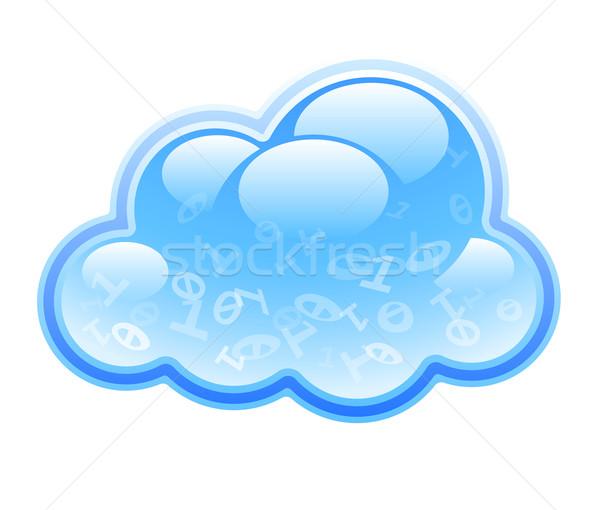 Niebieski Chmura odizolowany biały Zdjęcia stock © polygraphus