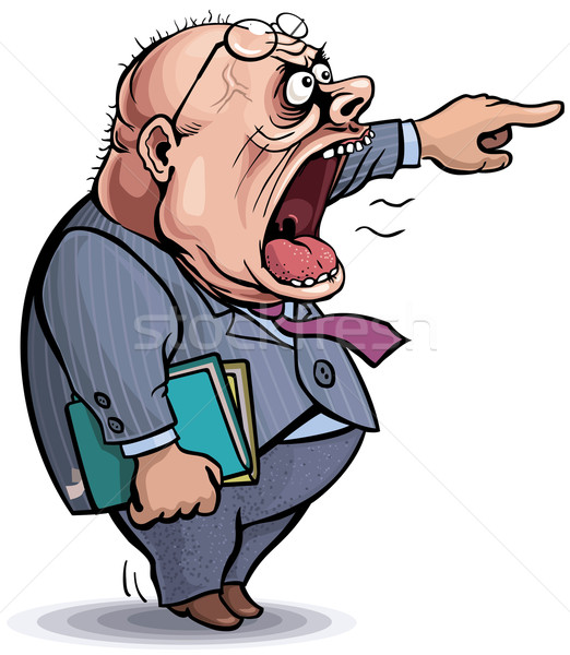 Stock photo: Boss. Screaming angry man pointing out