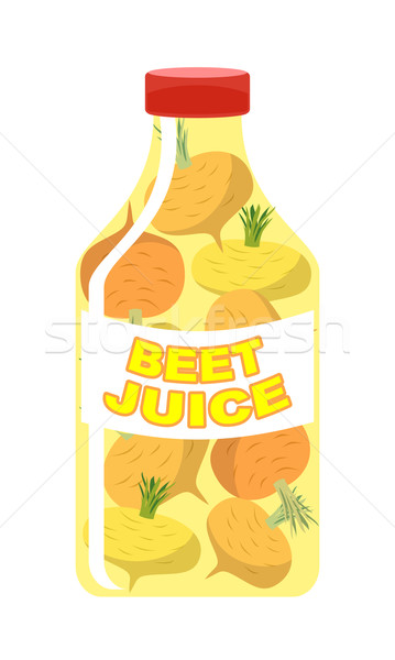 Stock photo: Turnip juice. Juice from fresh vegetables. Turnip in a transpare