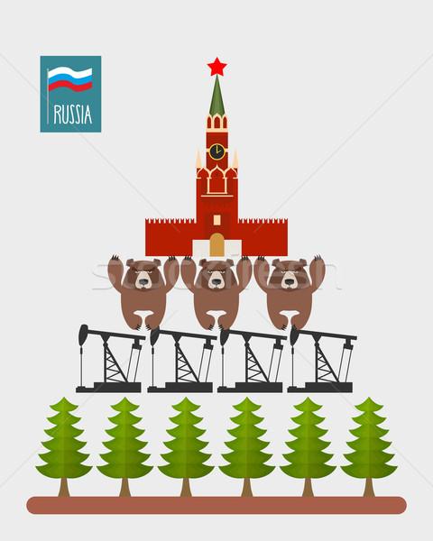 структуры Россия Москва Кремль три Медведи Сток-фото © popaukropa