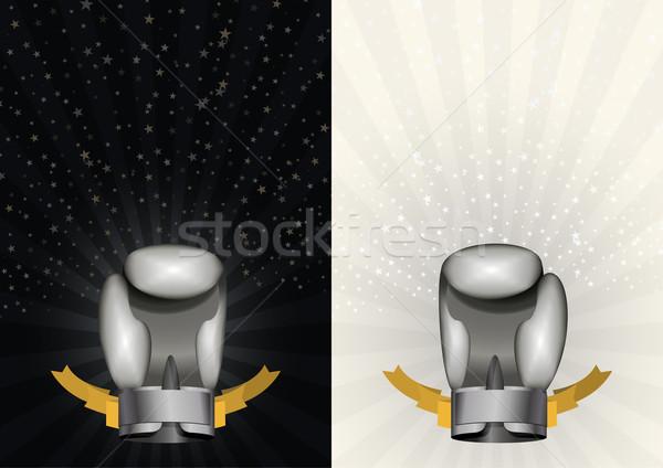 Luvas de boxe conjunto modelo campeonato boxe Foto stock © popaukropa