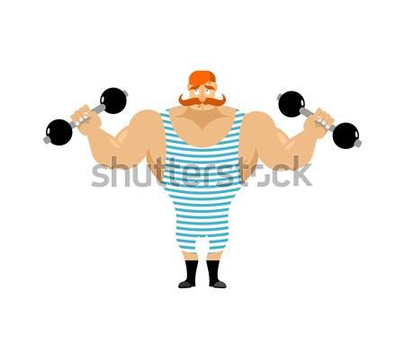 Retro sportowiec vintage jogi starożytnych Zdjęcia stock © popaukropa