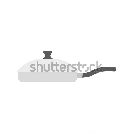 Saucepan on white background. Kitchen utensils. Utensils for coo Stock photo © popaukropa