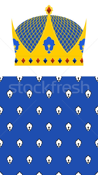 Crown for King and Royal pattern. Vector set for Kingdom. Stock photo © popaukropa