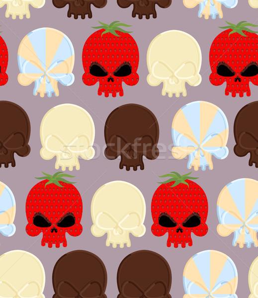 Foto stock: Doce · doce · crânios · cabeça · esqueleto