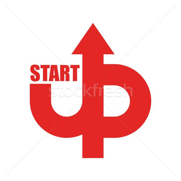 Start omhoog logo startup embleem lopen Stockfoto © popaukropa