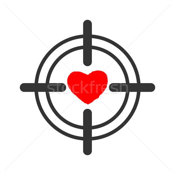 Heart sight. aim and love. Illustration for Valentines Day Stock photo © popaukropa