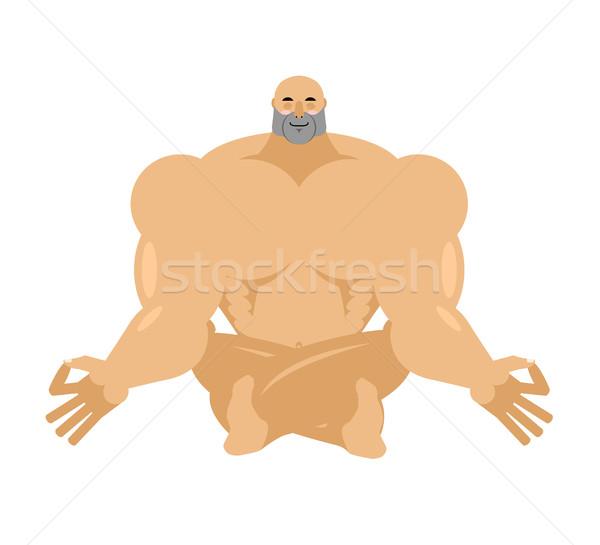 Athleten Yoga Bodybuilder Sportler Entspannung Stock foto © popaukropa