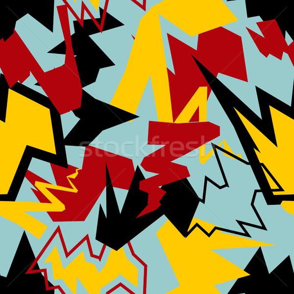 Abstract dynamisch agressief textuur Stockfoto © popaukropa