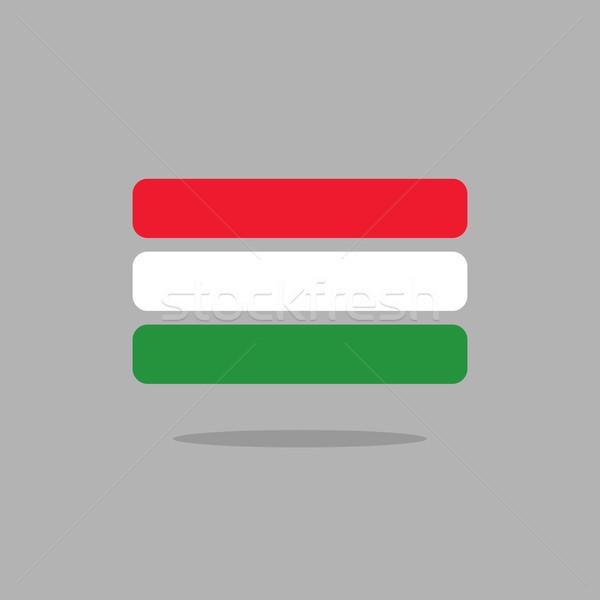 Венгрия флаг стилизованный геометрия вектора Сток-фото © popaukropa