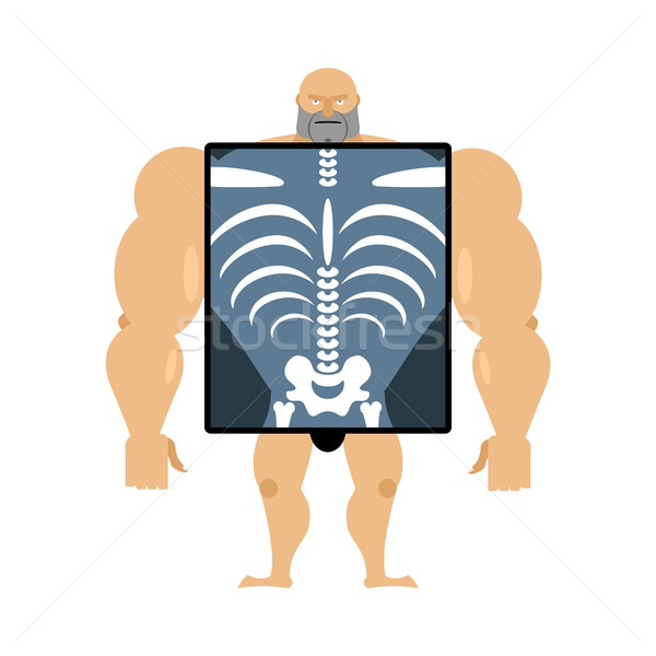 X-ray of person. Structure of men. Construct of athlete. Bones a Stock photo © popaukropa