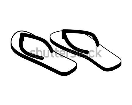Kapcie odizolowany buty na lato plaży buty podpisania Zdjęcia stock © popaukropa