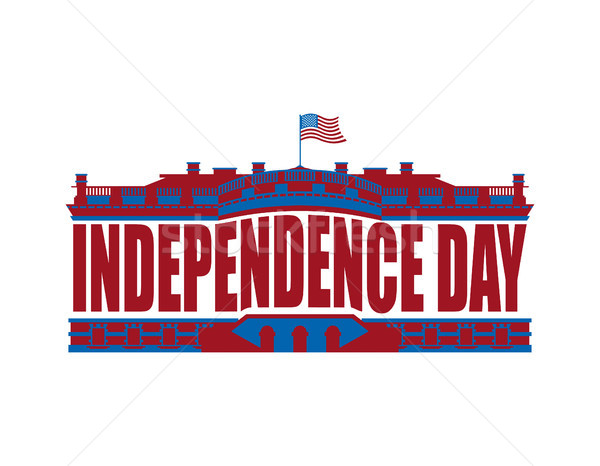 Independence Day USA emblem. White house. America Patriotic holi Stock photo © popaukropa