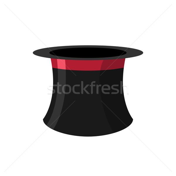 Silindir beyaz siyah şapka eski Stok fotoğraf © popaukropa