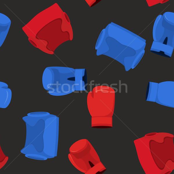 Luvas de boxe capacete esportes esportes fundo Foto stock © popaukropa