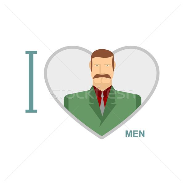 Szeretet férfiak férfi szimbólum szív férfi Stock fotó © popaukropa